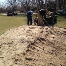 Sand Removed from Bunker Face