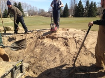Tilling and Removing Sand