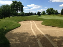 You can see the tire tracks on the top left of the bunker bank