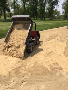 adding sand